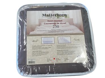 Down Blanket in packaging