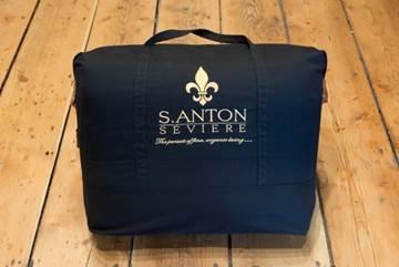Santon Seviere Duvet in Black Bag Package on Wood Floor